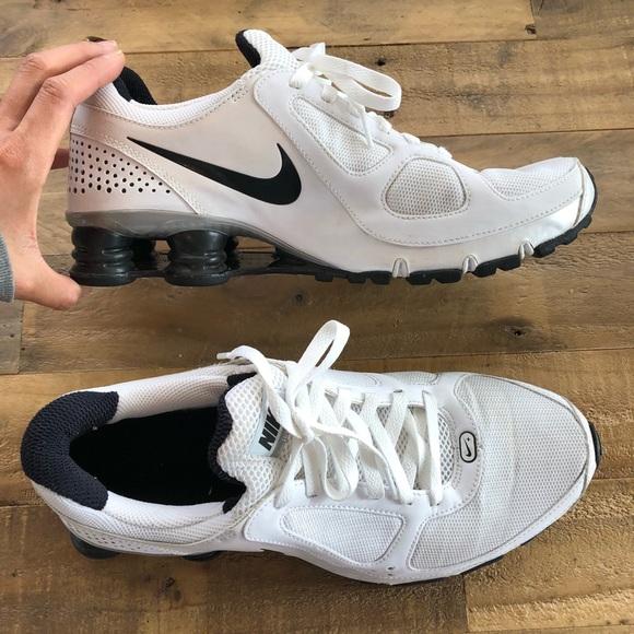 meet b7d20 2670c NIKE Shox Turbo 10 White Running Athletic Shoe. M 5b1a8a01aa5719bb8ca912a6